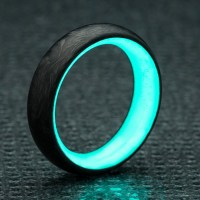 Lume Ring // Aqua (4) - Carbon 6 - Touch of Modern