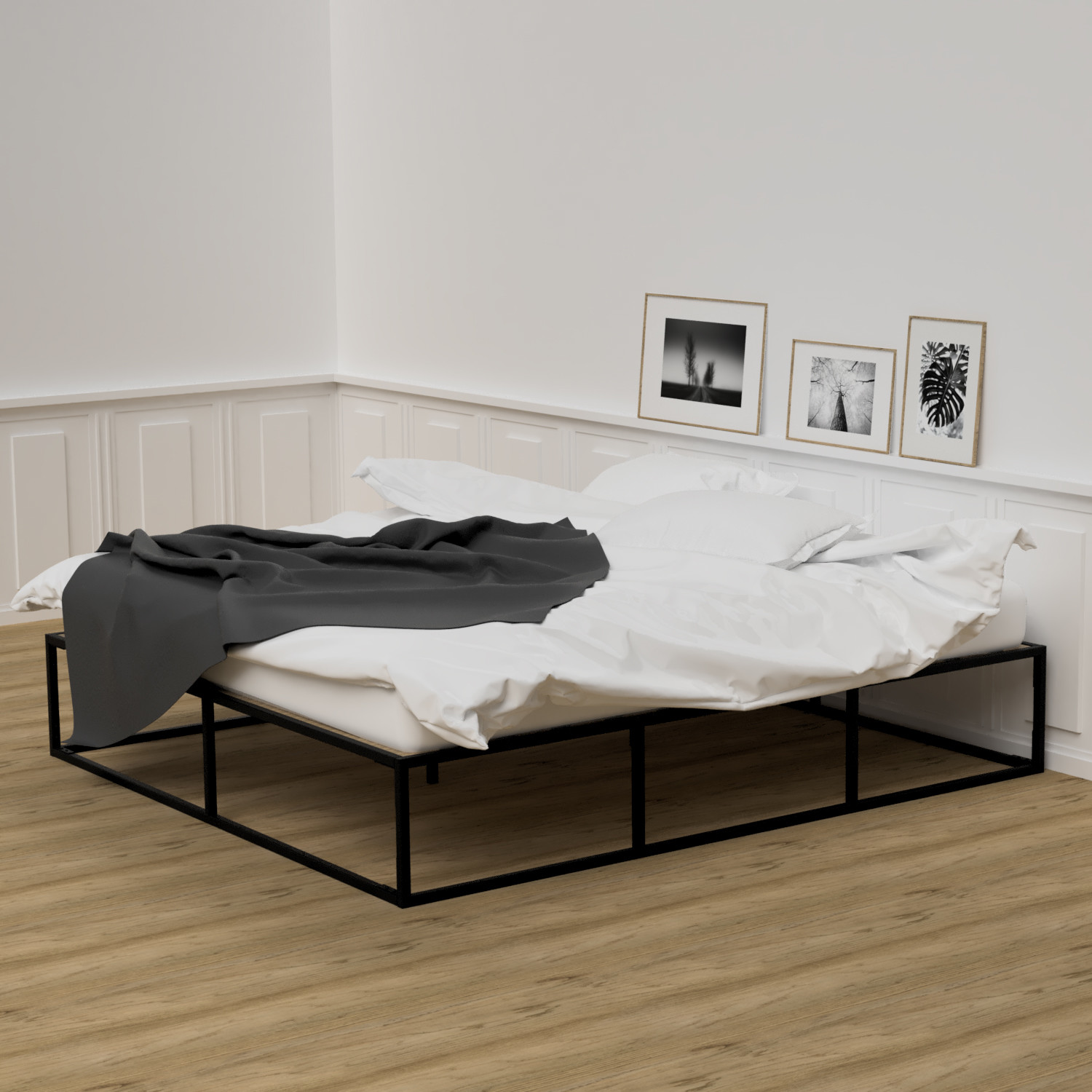 180cm Bed Bed Frame 180cm X 200cm Nichba Design Touch Of Modern