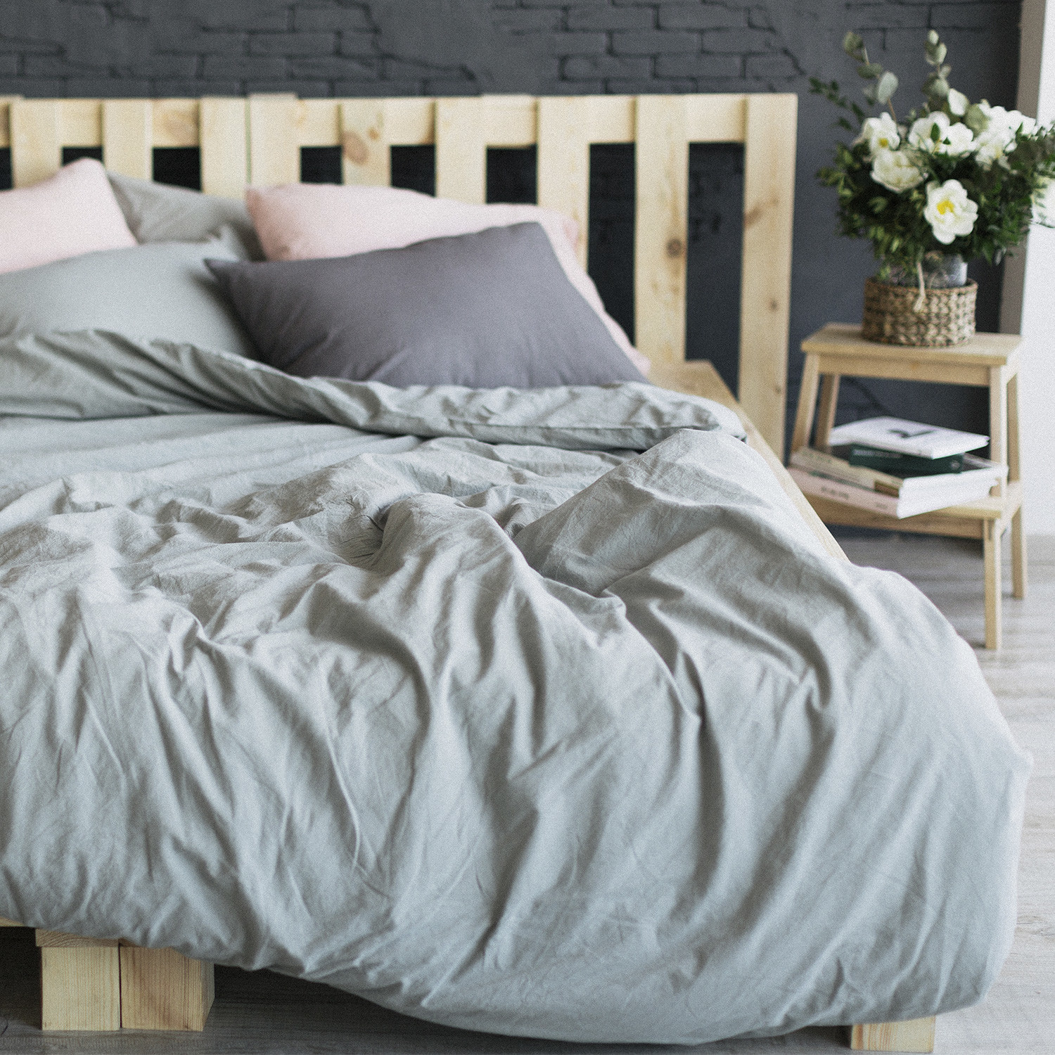 Cotton Bed Linen Sale Organic Washed Cotton Bedding Set Olive Grey Home Me Touch