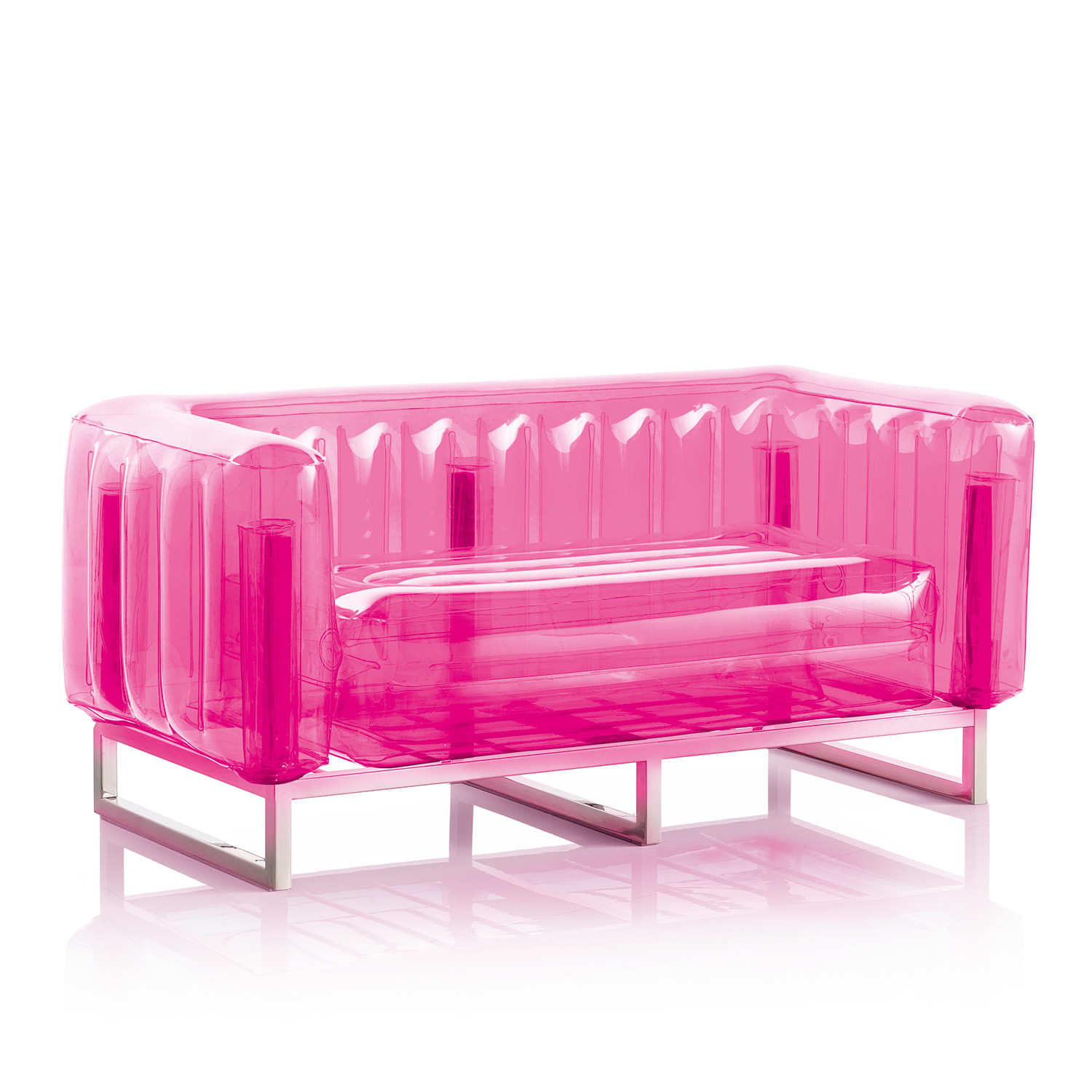 Retro Inflatable Sofa Yomi Sofa Inflatable Transparent Mojow Touch Of Modern