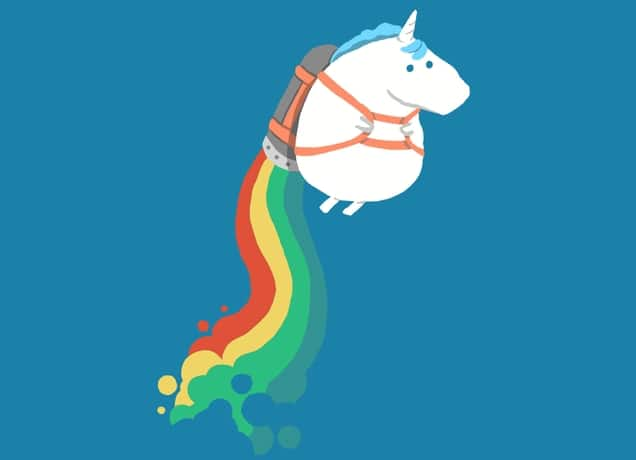 2k Wallpapers For Iphone X Fat Unicorn On Rainbow Jetpack By Radiomode Threadless