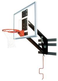 Bison PKG300 ZipCrank Wall Mounted Adjustable Basketball Hoop