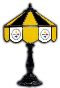 """Pittsburgh Steelers 21"""" Glass Table Lamp"""