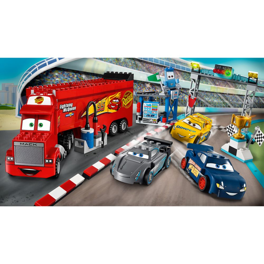 Cars 3 Jackson Storm Jouet Florida 500 Final Race Playset By Lego Juniors Cars 3