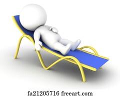 Free Art Print Of White Beach Chair And Hammock White