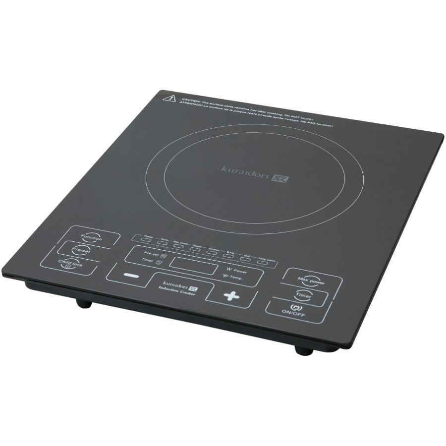 Plaque Induction Portable Professionnelle Kuraidori 1800 Watt Smooth Top Single Burner Induction Cooker