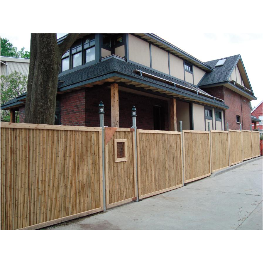 Bamboo Fence Canada New Trend Corporation 6 X 8 Jati Bamboo Fence Home Hardware Canada