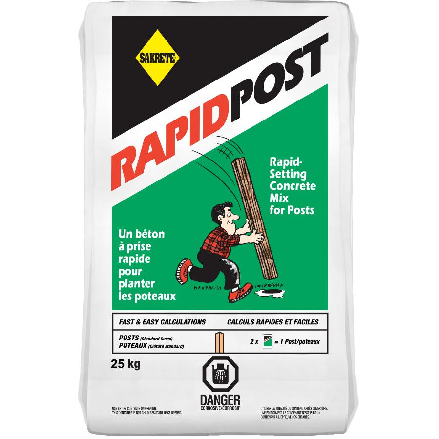 Sakrete 25kg Rapid Post Concrete Mix Home Hardware