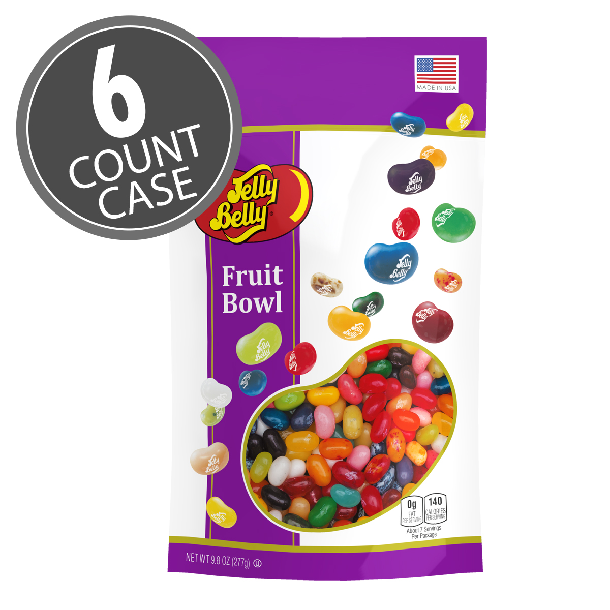 Fruit Bowl For Counter Fruit Bowl Mix Jelly Beans 9 8 Oz Pouch Bag 6 Count Case