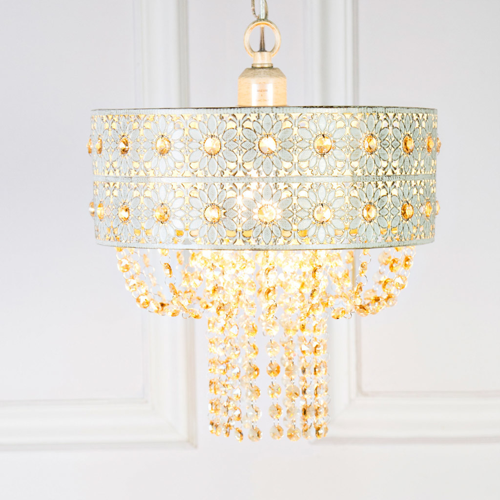 Plug In Hanging Lamps Jeweled Blossoms Plug In Hanging Pendant Lamp