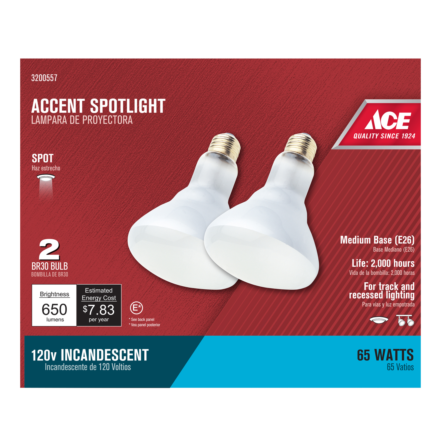 Blinds Spotlight Ace 65 Watts Br30 Spotlight Incandescent Light Bulb 600 Lumens