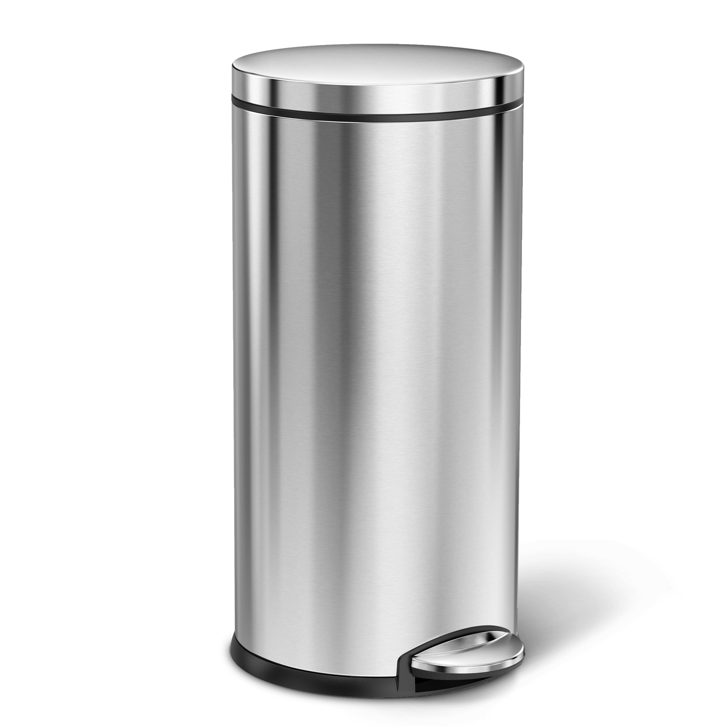 Silver Trash Cans Upc 838810015217 Simplehuman Round Step Trash Can