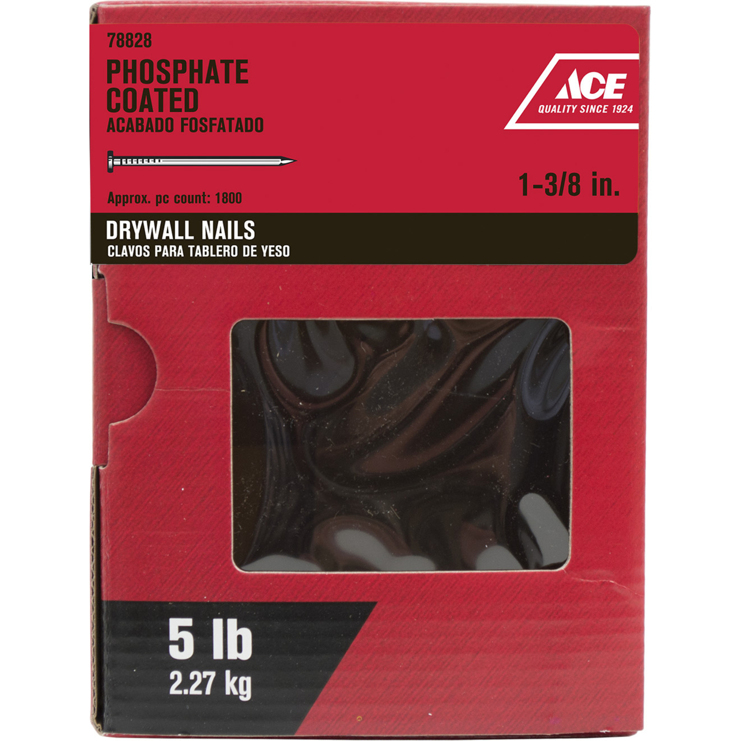 3 8 Drywall Ace 1 3 8 In L Drywall Nail Smooth Shank 5 Lb Ace Hardware