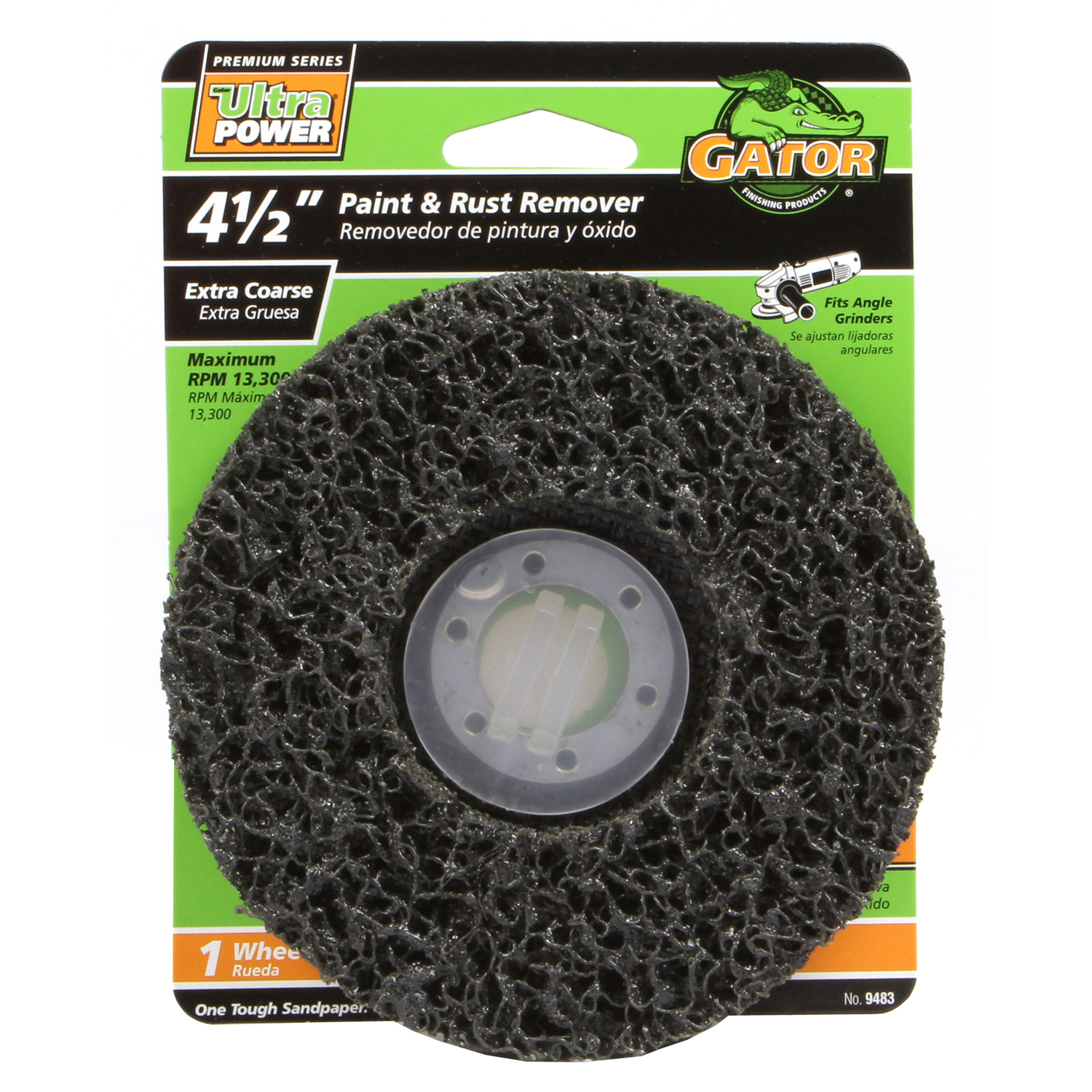 Gator Garage Wheel Protector Gator 4 5 In Silicon Carbide Center Mount Paint And Rust Remover