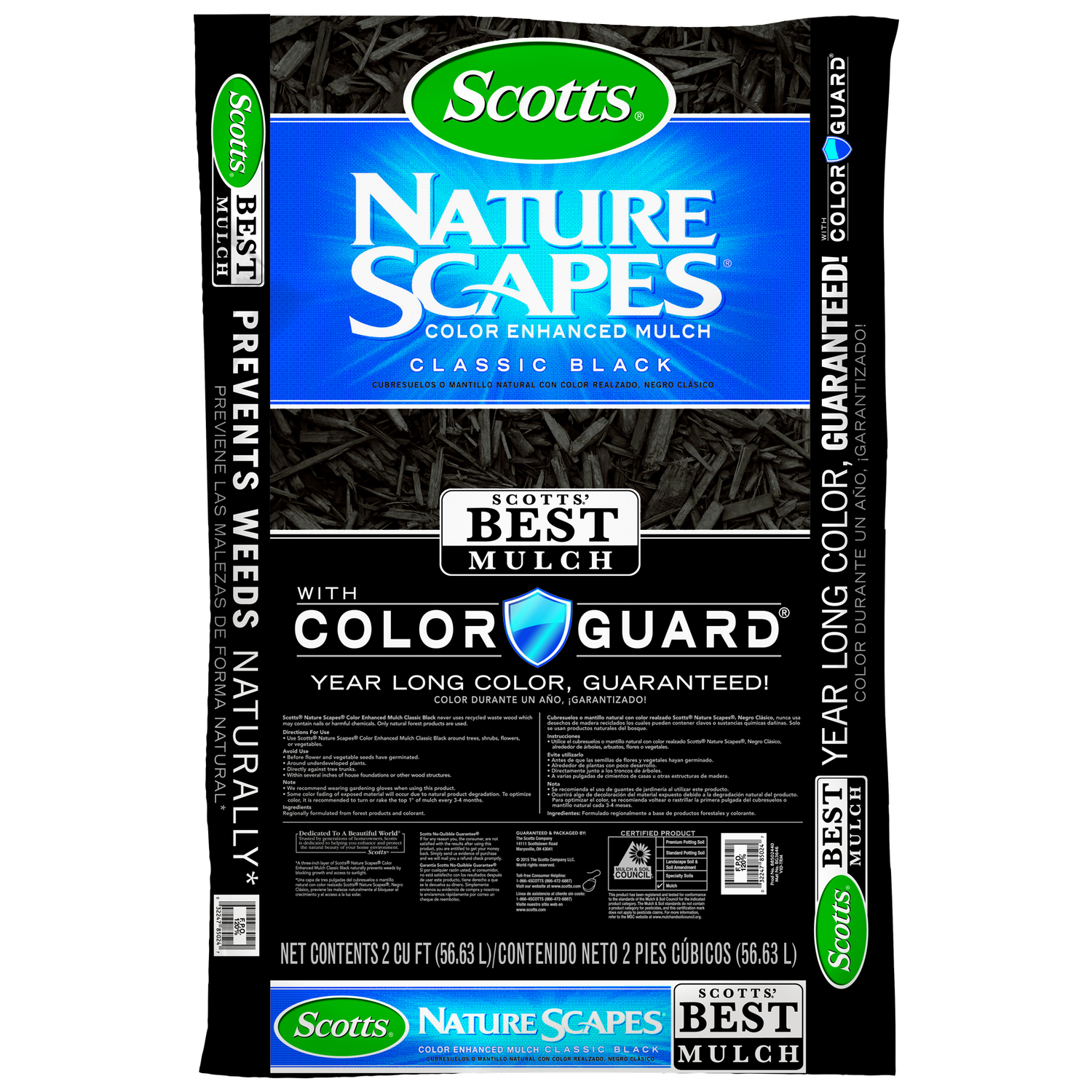 Black Bark Mulch Scotts Nature Scapes Classic Black Bark Color Enhanced Mulch 2 Cu