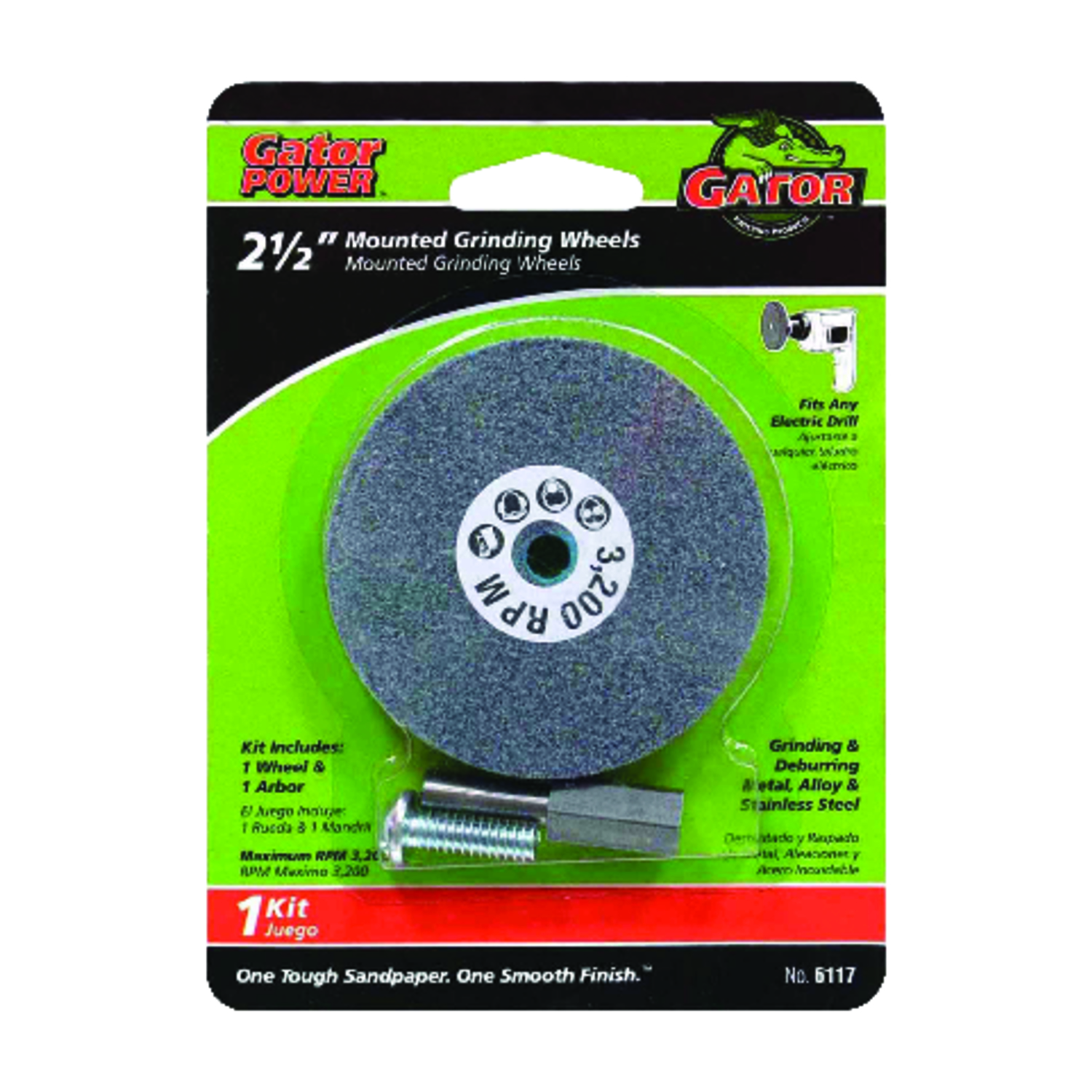 Gator Garage Wheel Protector Gator 2 1 2 In Dia X 3 8 In Thick X 1 4 In Grinding Wheel 3200