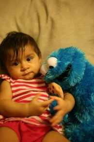 Kavya and Cookie Monster