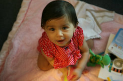 Kavya plays at daycare