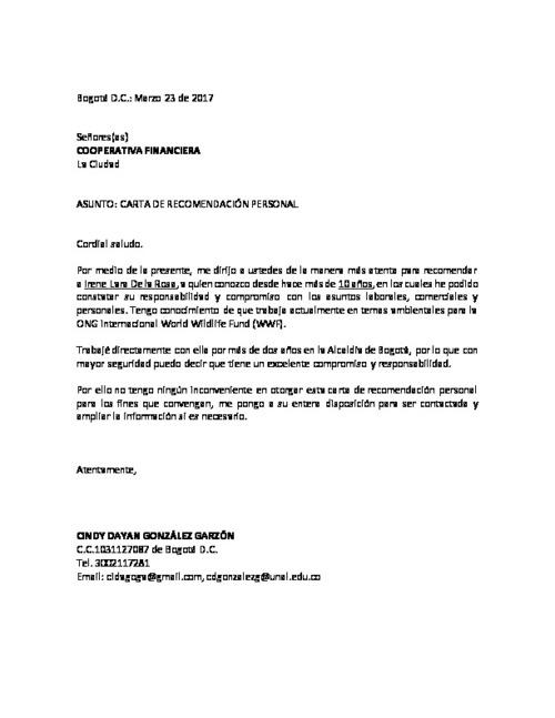 Carta De Recomendación Personal Laboral » ¿Cómo Hacer Una?▷ carta
