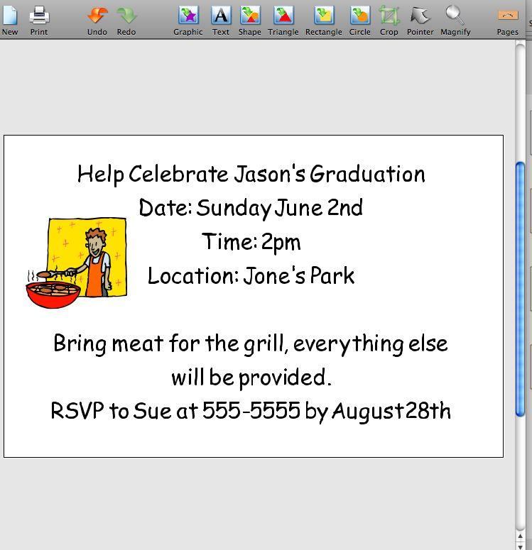 Cómo diseñar invitaciones para la fiesta de graduación