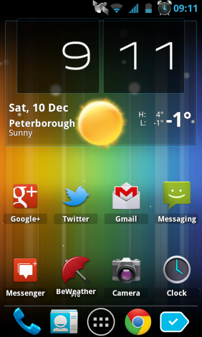 Spectrum ICS Live Wallpaper Pro - Background Style 6, ICS colors - AndroidTapp