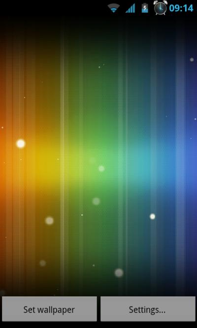 Spectrum ICS Live Wallpaper Pro - ICS colors - AndroidTapp