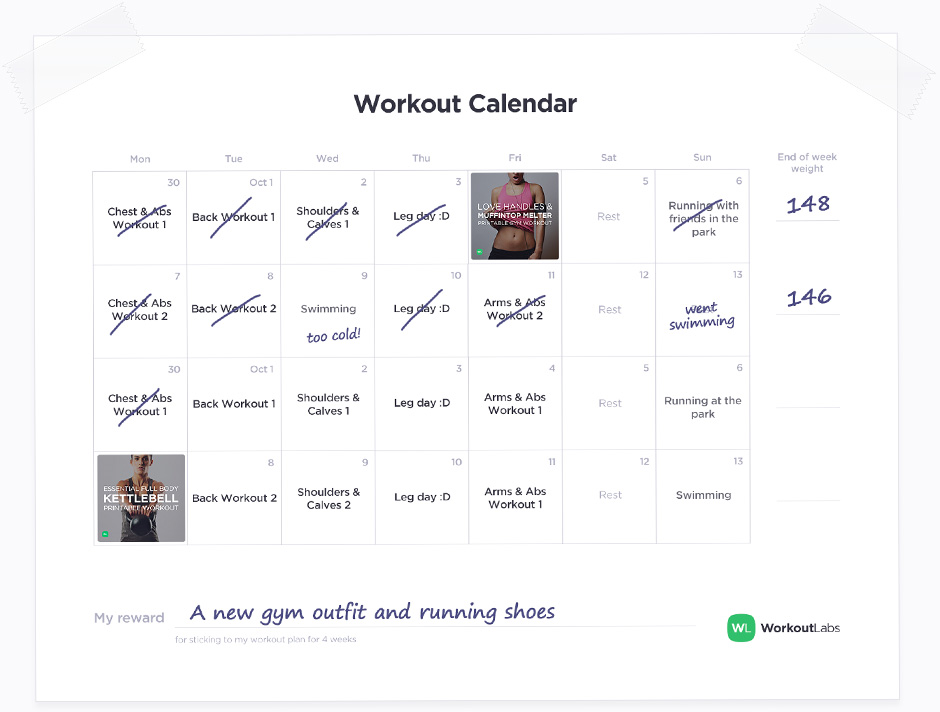 Workout PRO \u2013 Your Interactive Online Workout Calendar