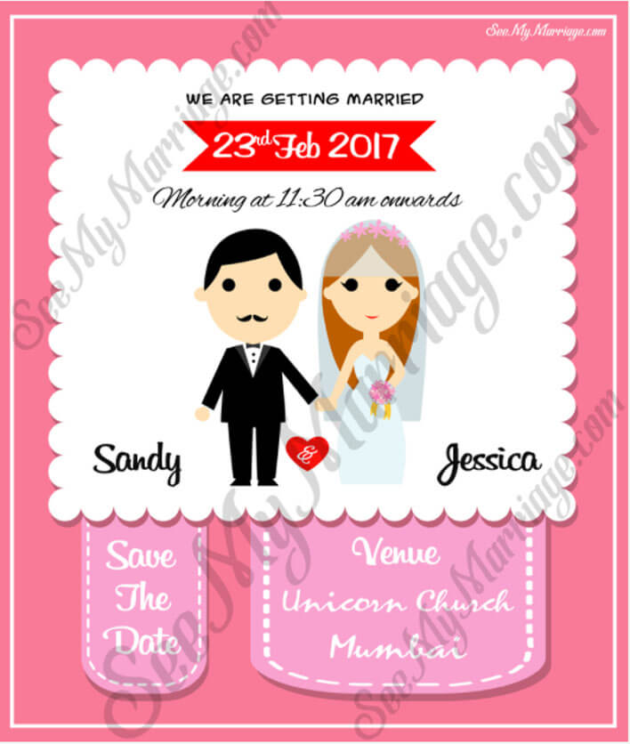 A Beautiful Pink Theme Cute Couple Christian Style Wedding Save The