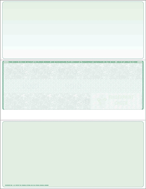 Middle Blank Check Stock - ZBP Forms