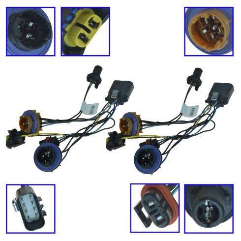 Chevy Headlight Wiring Harness Pair General Motors OEM 15950809