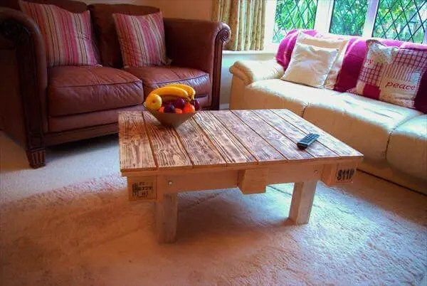 Diy Scorched Pallet Wood Coffee Table 101 Pallets