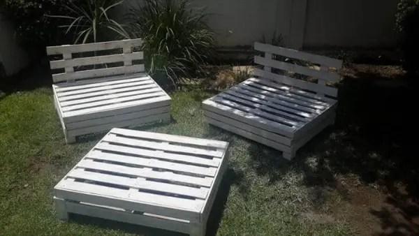 Diy Designed Pallet Patio Furniture Set 101 Pallets