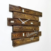 Wall Clock Made of Pallets  101 Pallets