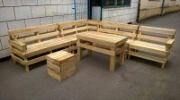 Patio Furniture Made from Wooden Pallets  101 Pallets