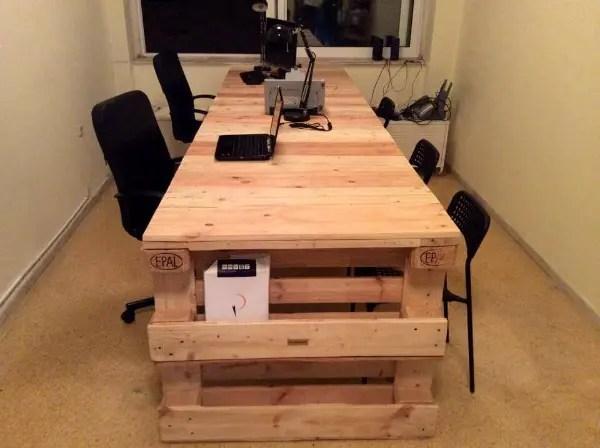 DIY Pallet Office Desk \u2013 101 Pallets