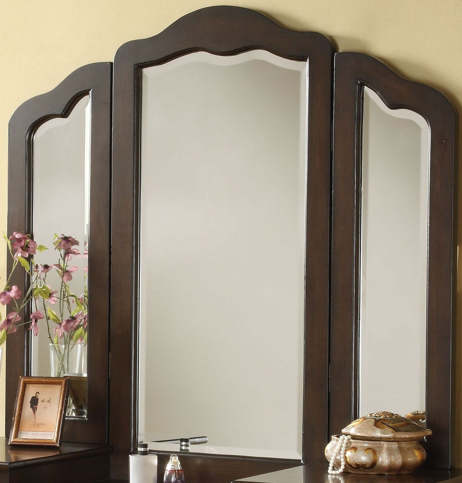Annapolis Collection 6 Acme Annapolis Brown Vanity Mirror - Annapolis Collection