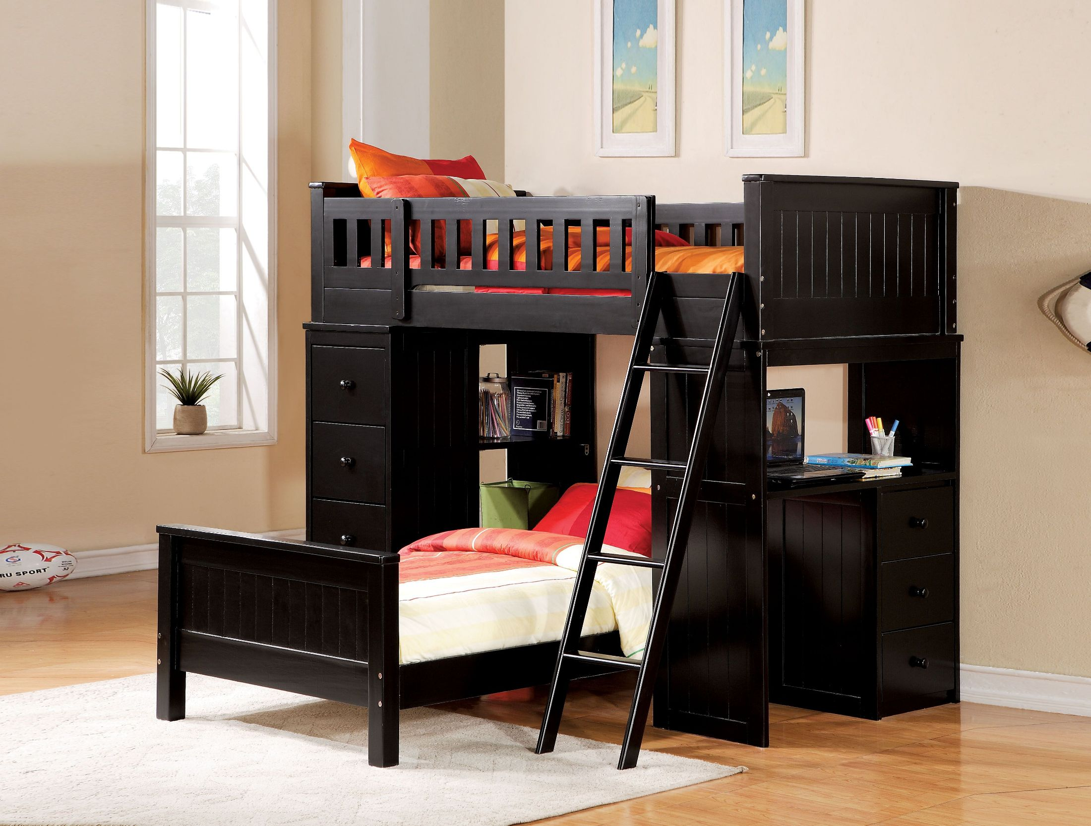Black Loft Bed Acme Willoughby Black Loft Bed Willoughby Collection 5