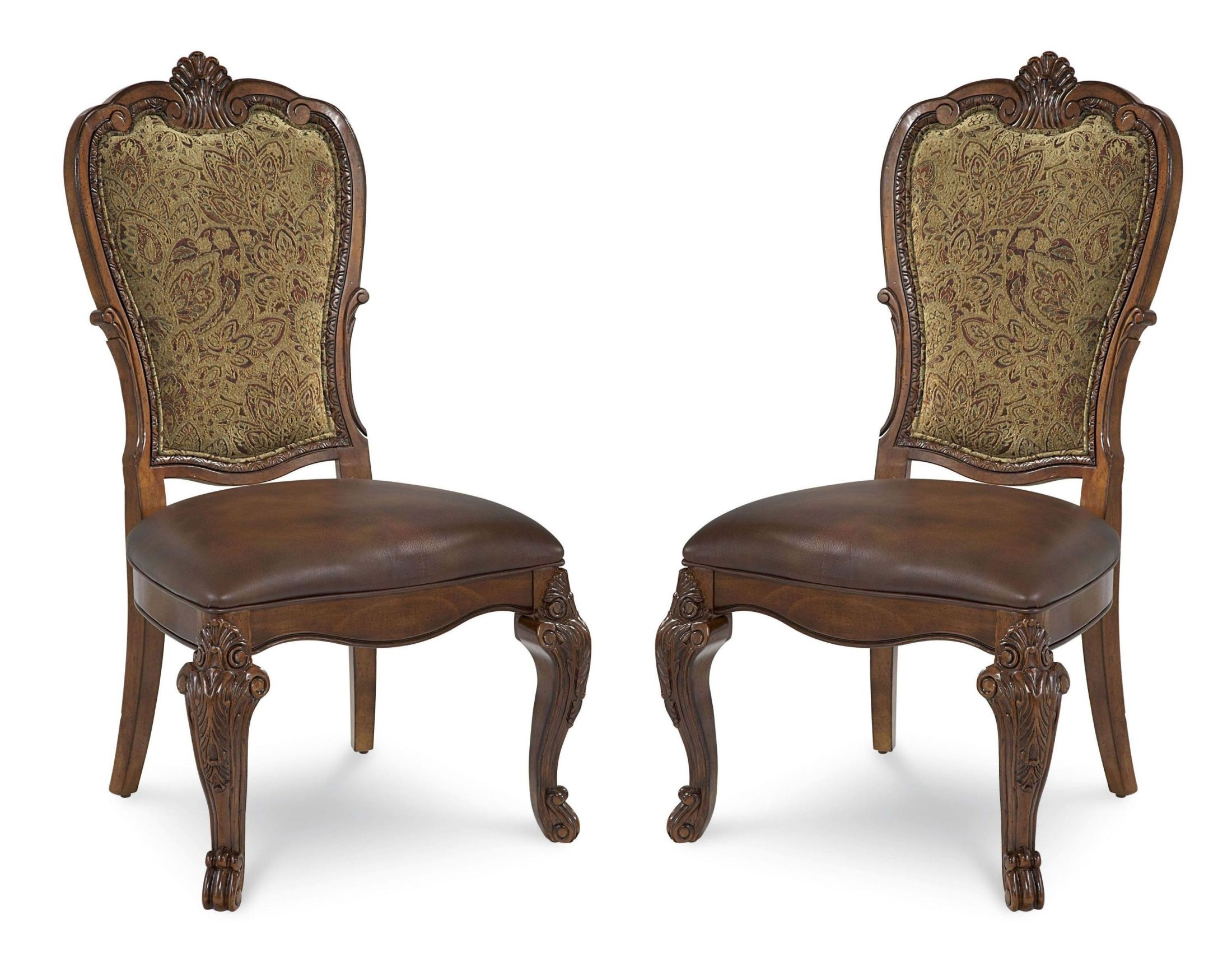 Art Old World Upholstered Back Side Chair Set Of 2