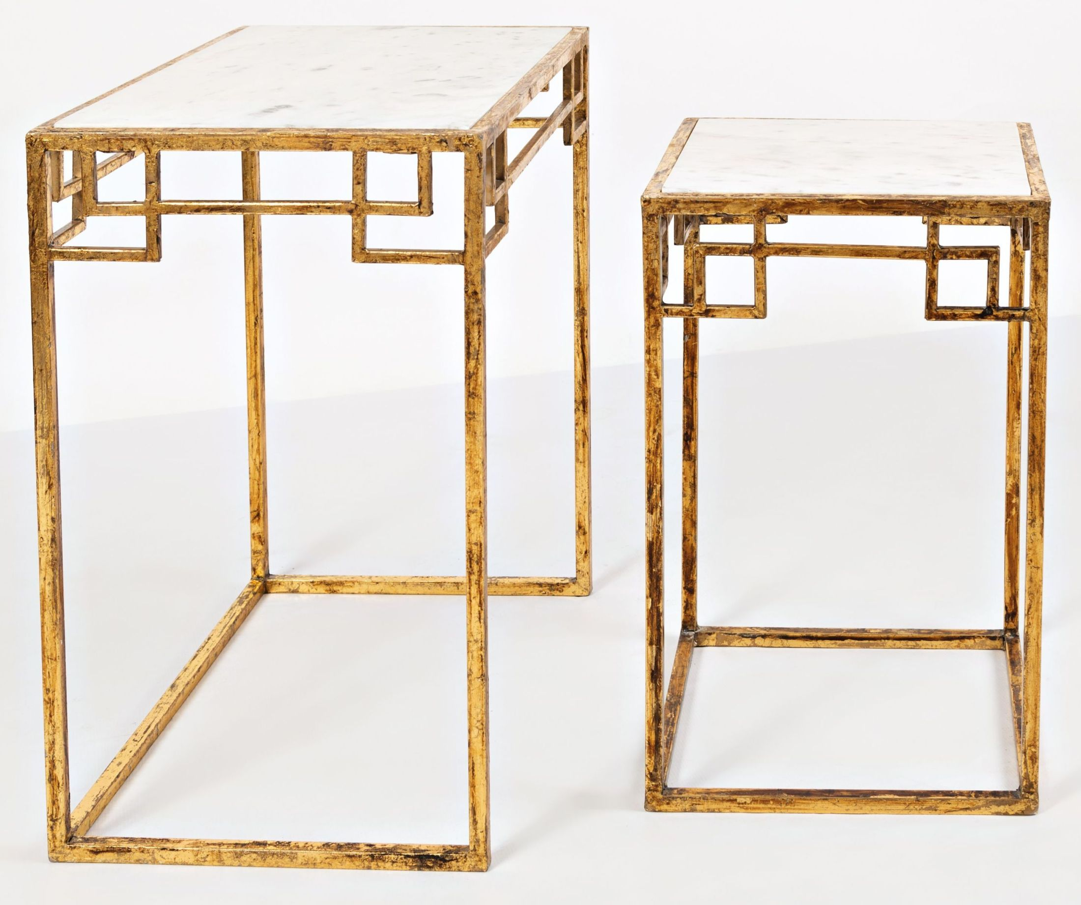 Gold Nesting Coffee Table Global Archive Matte Gold Nesting Tables Set Of 2