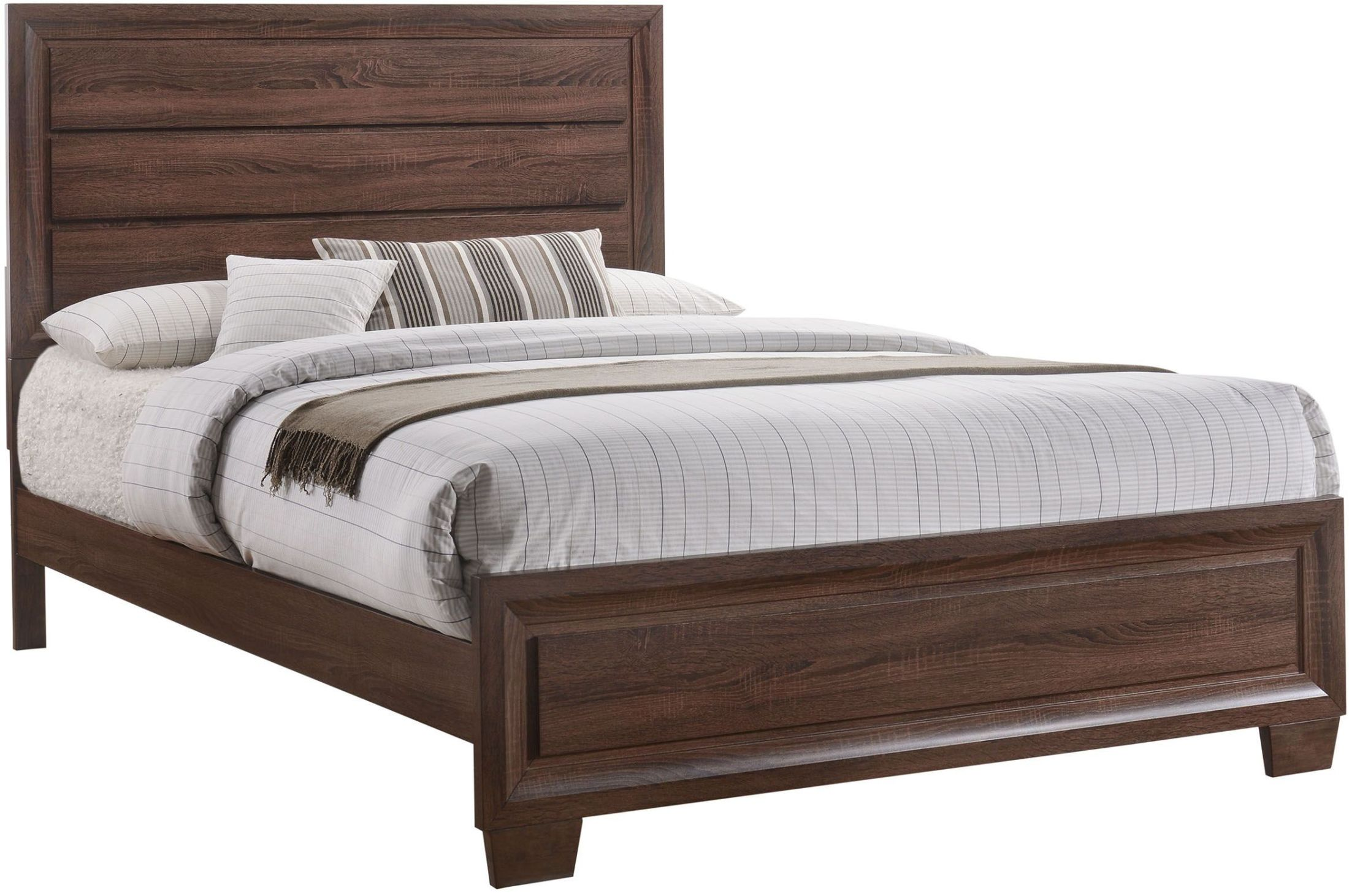 Buy A Bed Brandon Brown King Panel Bed