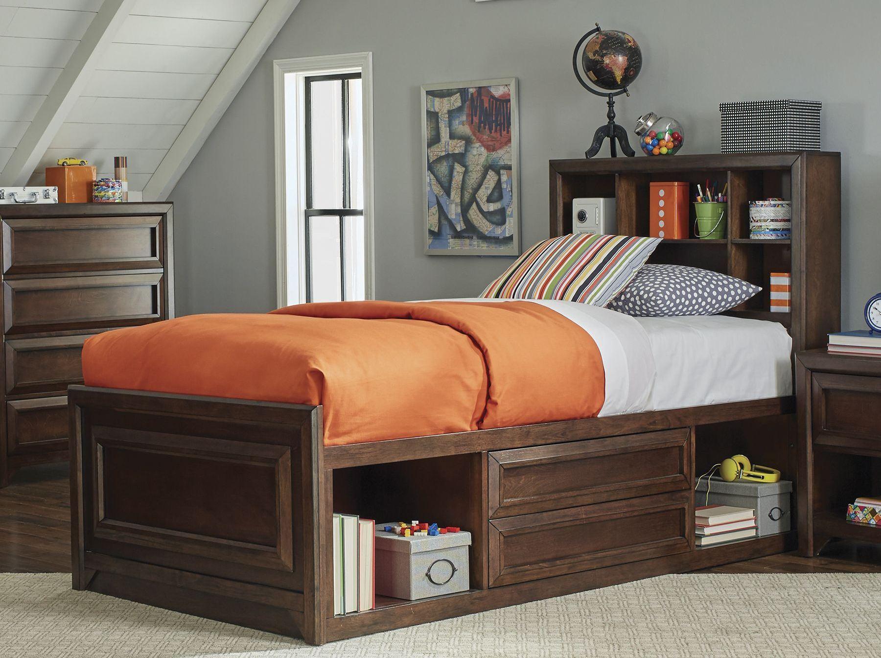 Coaster Greenough Maple Oak Youth Storage Panel Bedroom