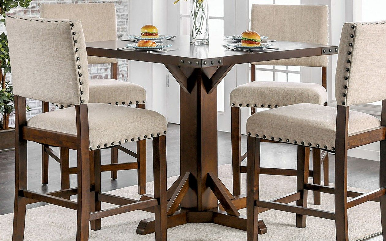 Dining Table Height Cm Furniture Of America Glenbrook Brown Cherry And Ivory