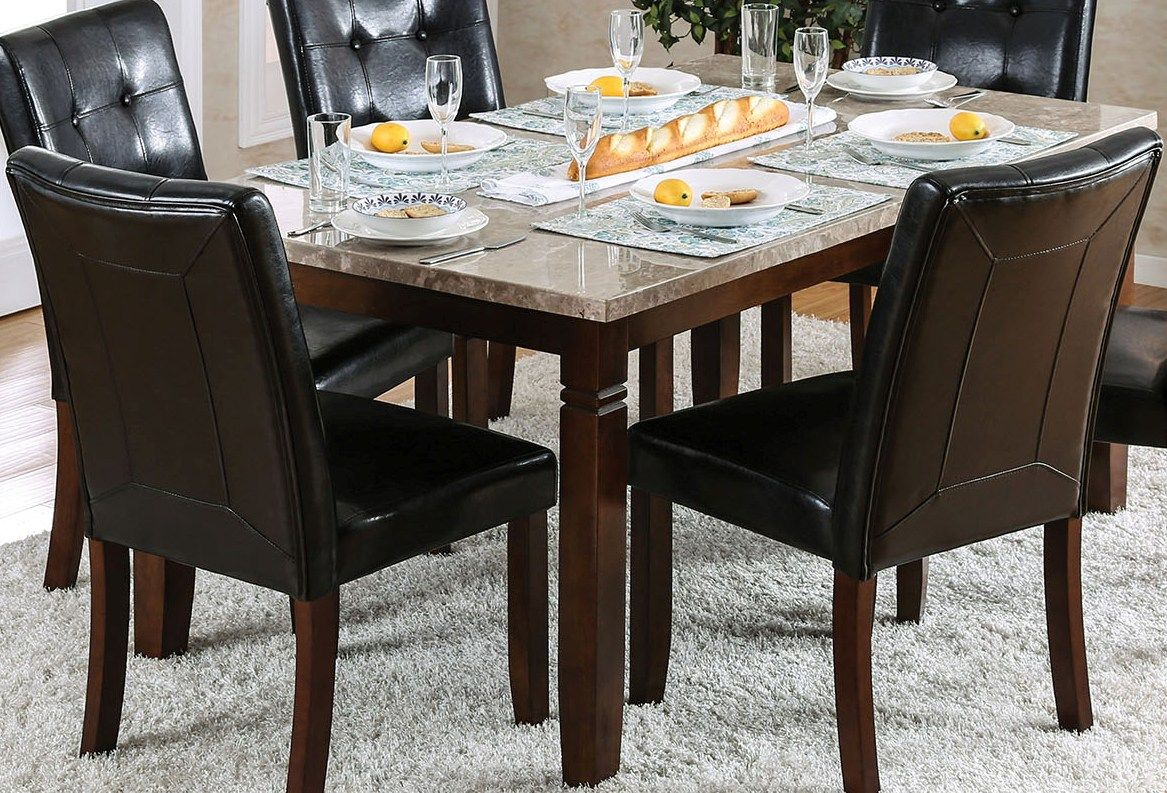 Dining Table Height Cm Furniture Of America Marstone Ii Brown Cherry Counter