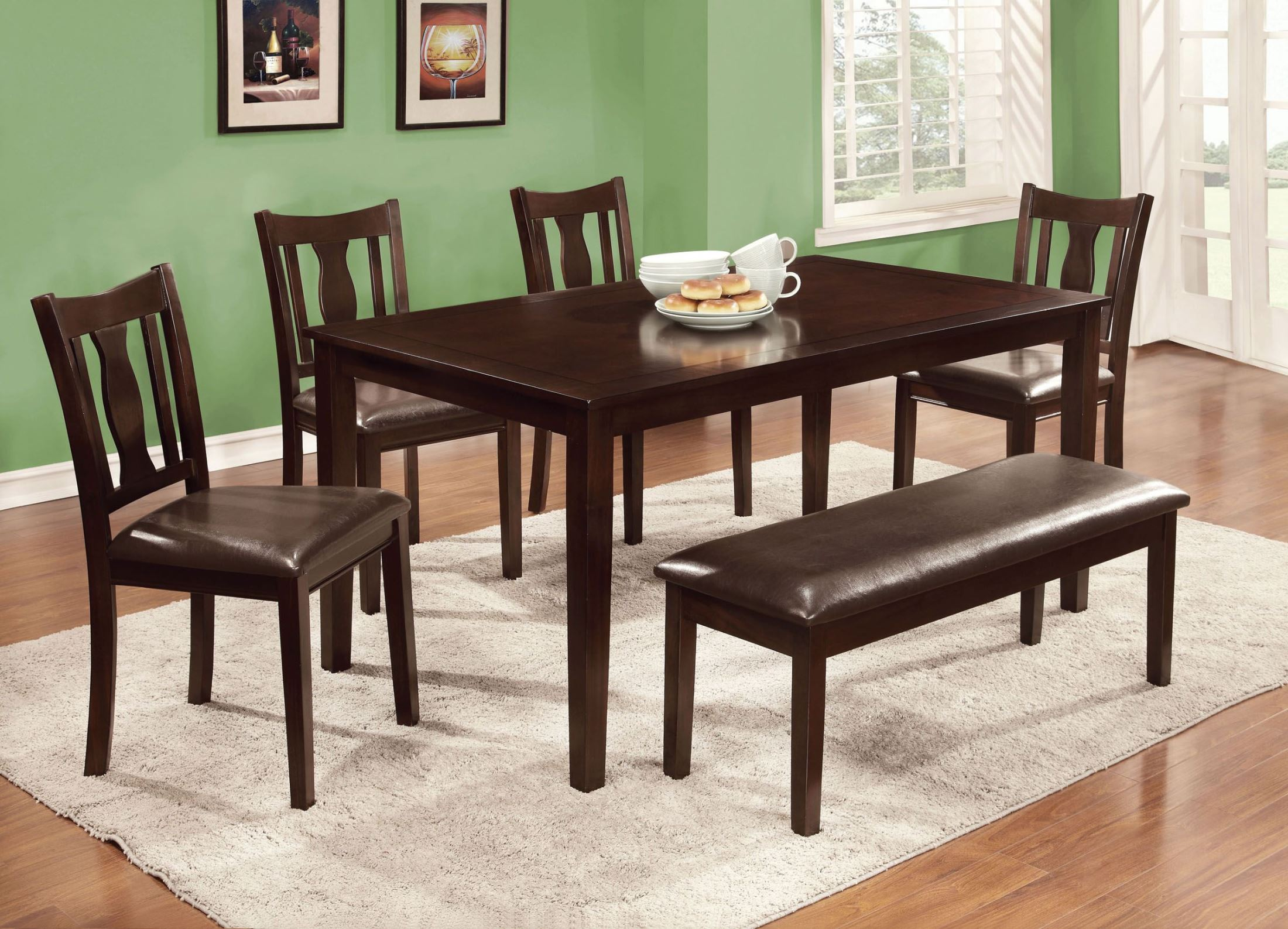Furniture Of America Northvale Ii 6 Piece Dining Table Set