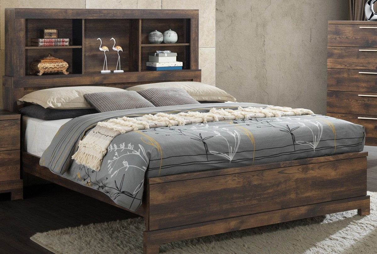 Bookcase Bed New Classic Furniture Campbell Queen Bookcase Bed In Ranchero