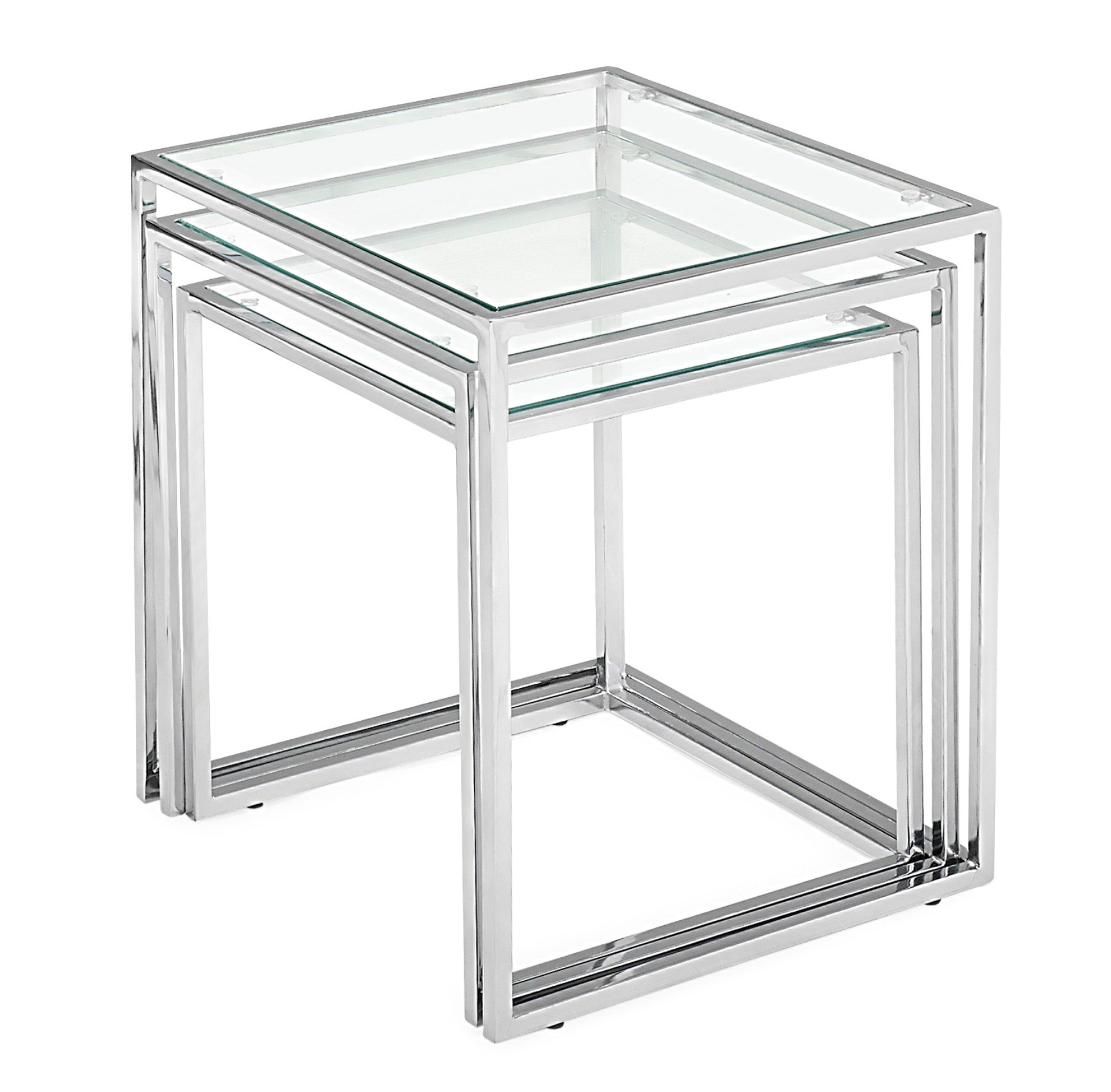 Glass Nesting Tables Pasos Nesting Table Tempered Glass