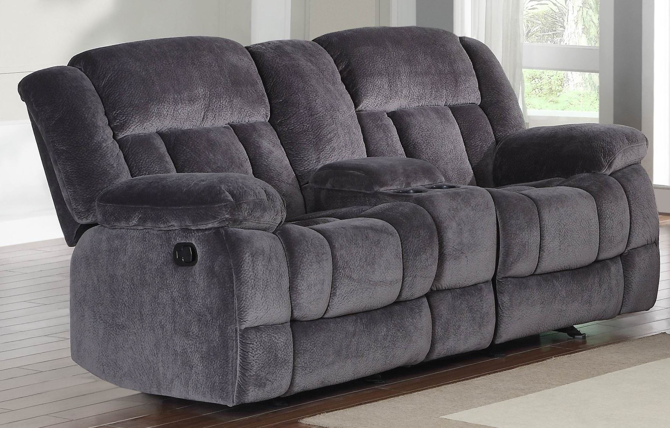 Sofa Reclinable Doble Laurelton Doble Glider Reclining Loveseat With Center