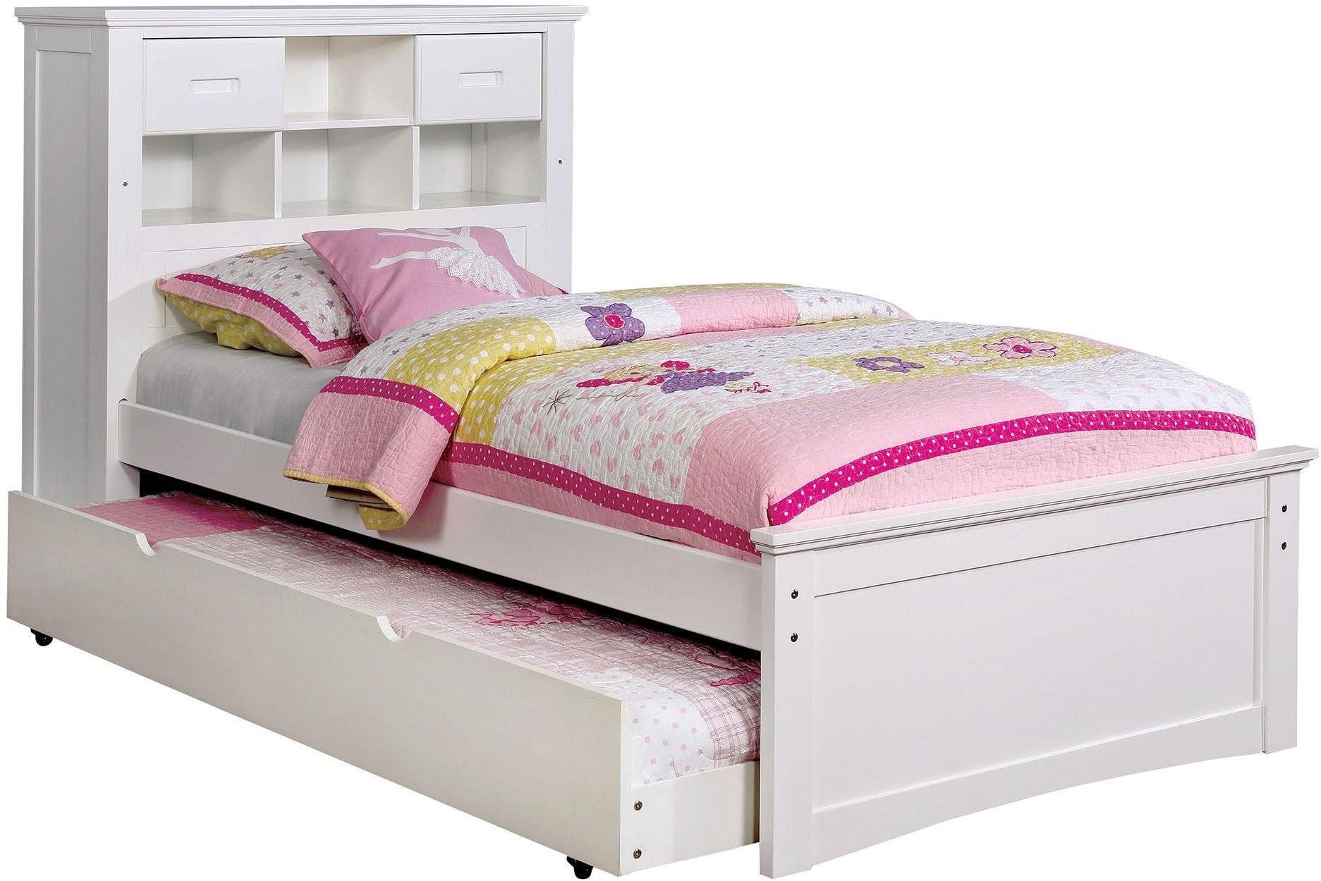 Bookcase Bed Pearland White Full Bookcase Bed