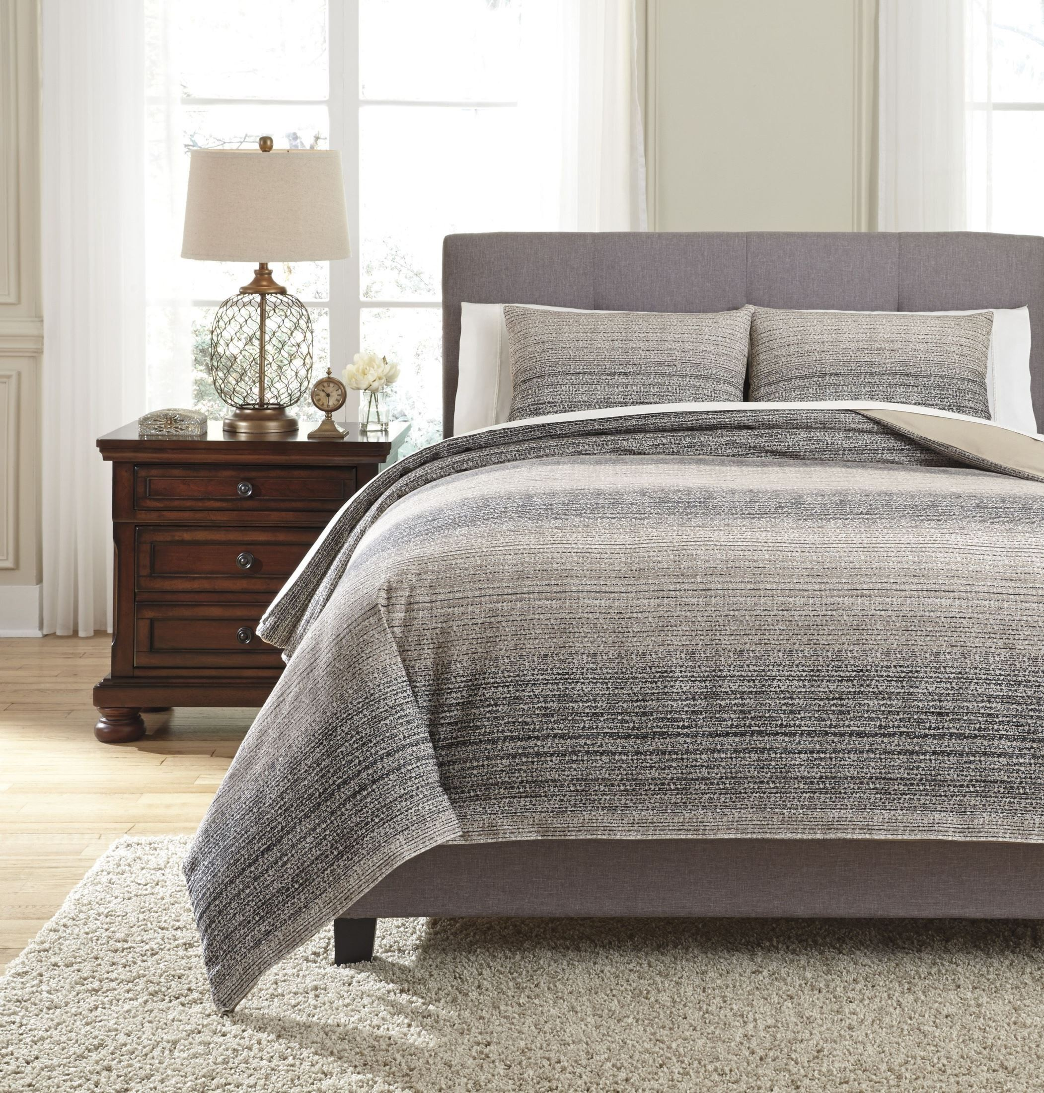 Quilt Cover King Arturo Natural And Charcoal King Duvet Cover Set
