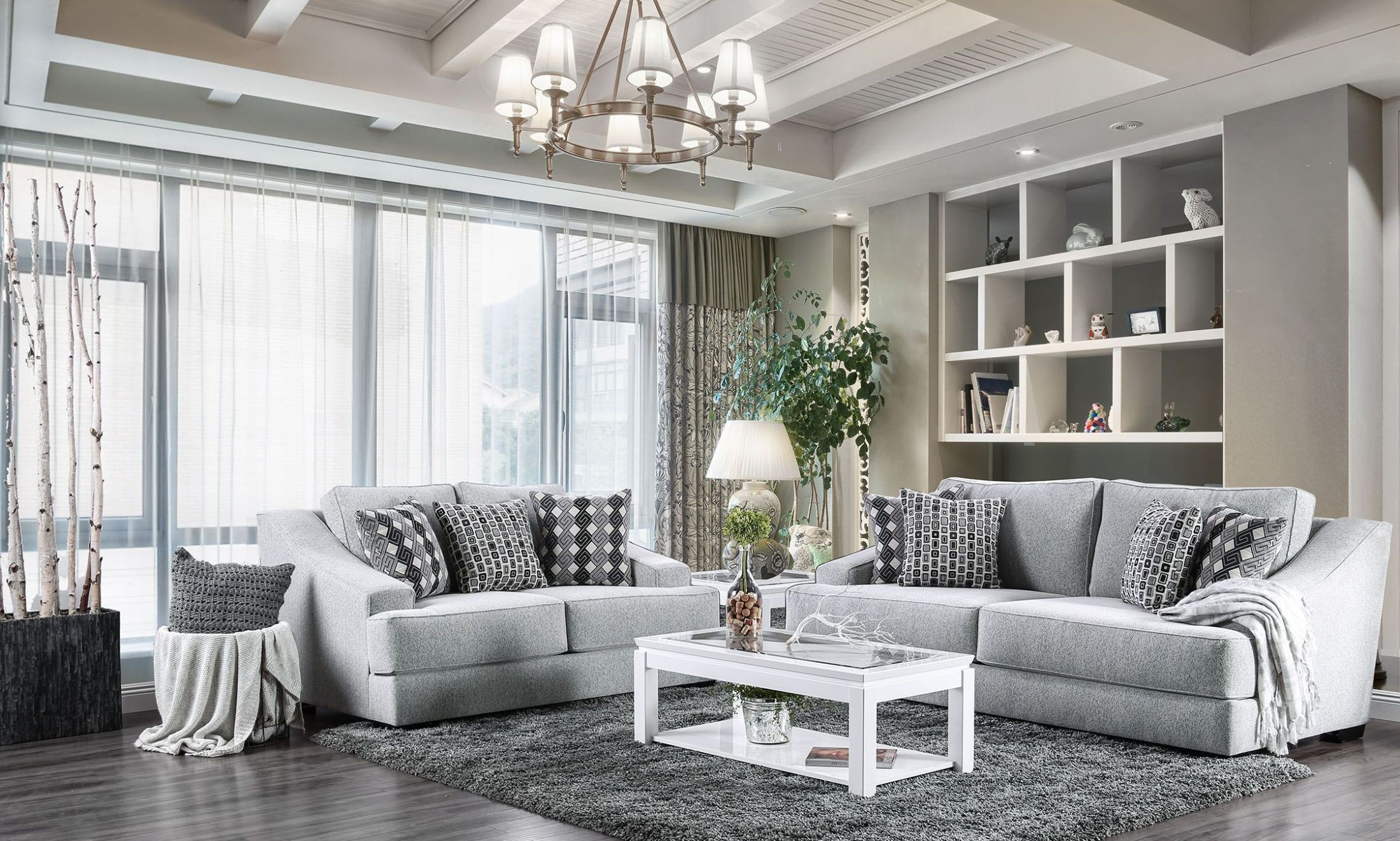 Gray Sofas For Living Room Lesath Light Gray Living Room Set